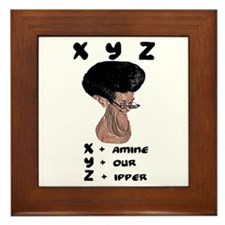 X Y Z - Framed Tile