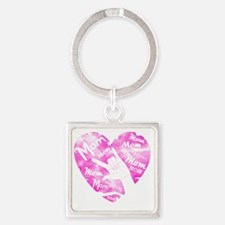 love_my_mom_mothers_day_2 Square Keychain