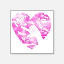 """love_my_mom_mothers_day_2 Square Sticker 3"""" x 3"""""""
