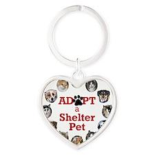 Adopt a Shelter Pet Heart Keychain