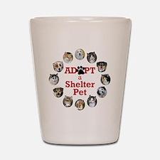Adopt a Shelter Pet Shot Glass