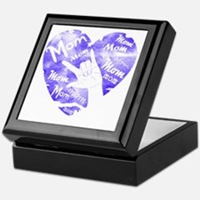 love_you_mom_blue Keepsake Box