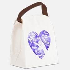 love_you_mom_blue Canvas Lunch Bag