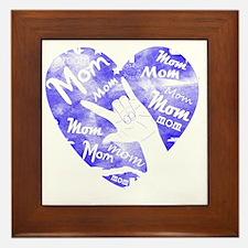 love_you_mom_blue Framed Tile