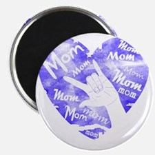 love_you_mom_blue Magnet