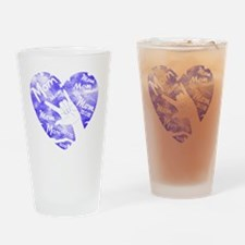 love_you_mom_blue Drinking Glass