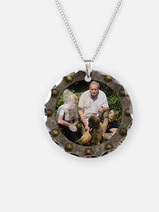 Customizable porthole framed photo Necklace