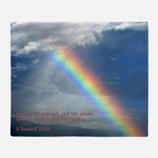 2 Samuel 22-33  Rainbow Throw Blanket