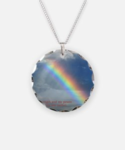 2 Samuel 22-33  Rainbow Necklace Circle Charm