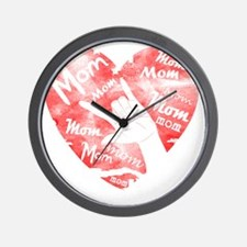 love_my_mom_mothers_day Wall Clock