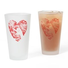 love_my_mom_mothers_day Drinking Glass