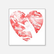 """love_my_mom_mothers_day Square Sticker 3"""" x 3"""""""