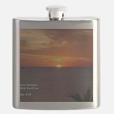 1 John 4-19  Sunrise Flask
