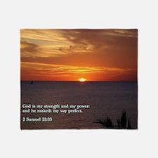 2 Samuel 22-33  Sunset Throw Blanket