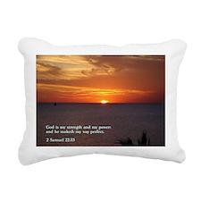 2 Samuel 22-33  Sunset Rectangular Canvas Pillow