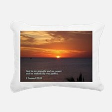 2 Samuel 22-33  Sunset Rectangular Canvas Pillow