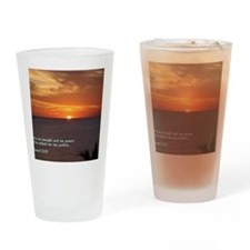 2 Samuel 22-33  Sunset Drinking Glass