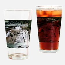 Isaiah 41-10  Waterfall Drinking Glass
