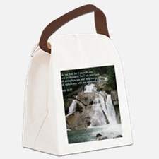 Isaiah 41-10  Waterfall Canvas Lunch Bag