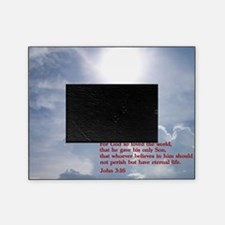 John 3-16  Clouds Picture Frame