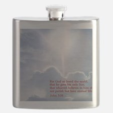 John 3-16  Clouds Flask