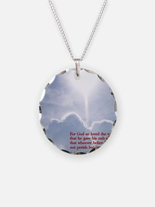 John 3-16  Clouds Necklace
