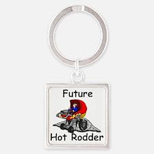 future hot rodder copy Square Keychain