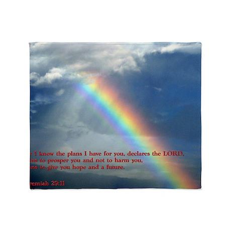 Jeremiah 29-11 Rainbow Throw Blanket