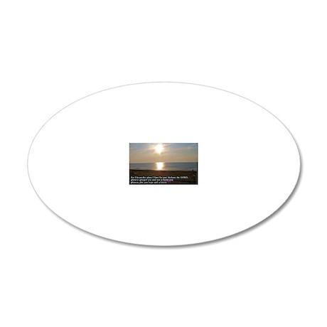 Jeremiah 29-11 Sunrise 20x12 Oval Wall Decal