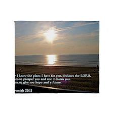 Jeremiah 29-11 Sunrise Throw Blanket