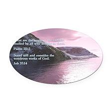 Job 37-14  Sunrise Oval Car Magnet