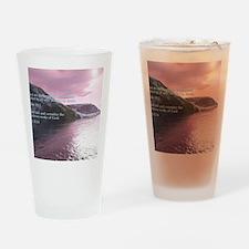 Job 37-14  Sunrise Drinking Glass