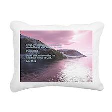 Job 37-14  Sunrise Rectangular Canvas Pillow