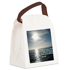 Luke 6-37  Sunset Canvas Lunch Bag