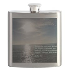 Luke 6-37  Sunset Flask