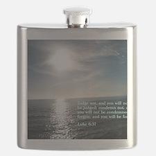 Luke 6-37  Sunset Flask