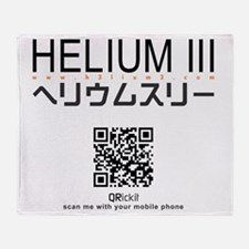 helium3_tshirt Throw Blanket