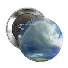 "Ephesians 2-8  Rainbow 2.25"" Button"