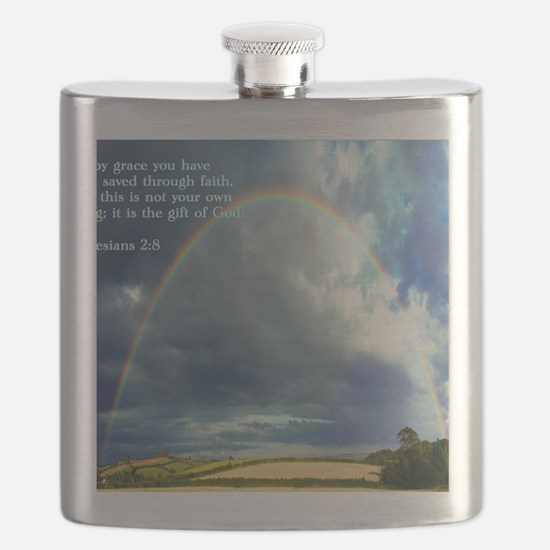Ephesians 2-8  Rainbow Flask