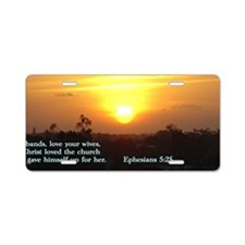 Ephesians 5-25  Sunset Aluminum License Plate