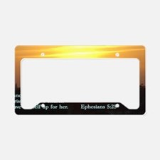 Ephesians 5-25  Sunset License Plate Holder