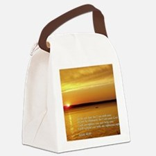 Isaiah 41-10  Sunset Canvas Lunch Bag