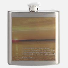 Isaiah 41-10  Sunset Flask