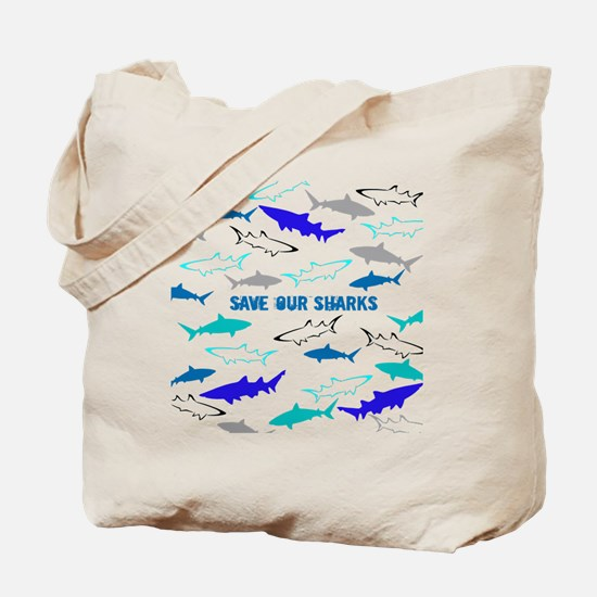 shark collage Tote Bag
