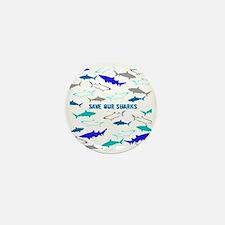 shark collage Mini Button