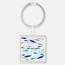shark collage Square Keychain