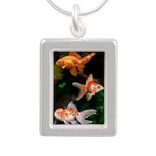 Goldfish Silver Portrait Necklace