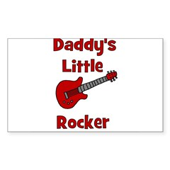 Daddy's Little Rocker with Gu Sticker (Rectangular
