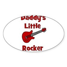 Daddy's Little Rocker with Gu Oval Decal