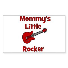 Mommy's Little Rocker Rectangle Decal
